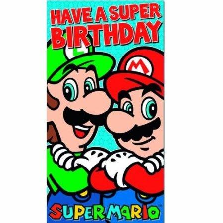 Super Mario Super Birthday Card By Super Mario Shop Online For