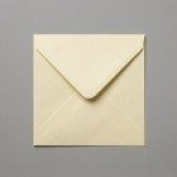 50 x (5x5) 130x130mm Small Square Cream/Ivory 100gsm Quality Greetings Card Envelopes