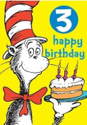 Dr Seuss - Badge Card - 3rd Birthday