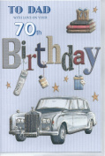 To Dad With Love On Your 70th Birthday card