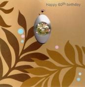 Pink Pineapple Handmade 60Th Female Birthday Cards 3D Sixty 60 Card