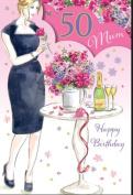 Mum 50th Birthday Card