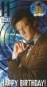 Doctor Who Age 11 Birthday Card With Badge