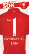 Liverpool Happy Birthday Son Card with Badge