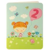 Birthday Girl Age 2 Greeting Card