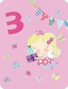 James Ellis Girl Age 3 Fairy Birthday Card
