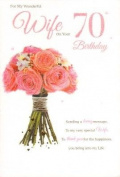 Wife 70th Birthday , Birthday Card