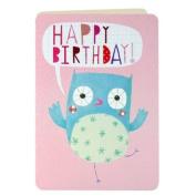 James Ellis Dancing Owl Happy Birthday Card