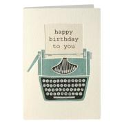 Birthday Typewriter Retro Press Greeting Card