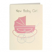 James Ellis Retro Press New Baby Girl Card