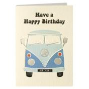 James Ellis Retro Press Camper Van Birthday Card