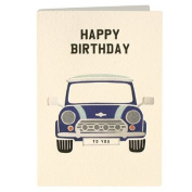 Birthday Mini Retro Press Greeting Card