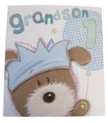 Lots Of Woof Junior Grandson 1st Birthday Card 28cm x 24cm Code 280118