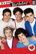 One Direction Birthday Card - Large It's Your Birthday Card with Door Hanger