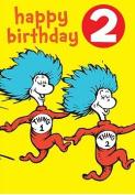 Dr Seuss - Badge Card - 2nd Birthday