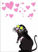 Banksy Art - Open Greeting Card - Star Glasses - BK040