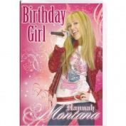 Disney Hannah Montana Birthday Girl Card - General Open Card Size 160mm x 230mm