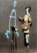 Banksy Art - Open Greeting Card - Nob Artist - BK012