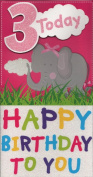 Birthday Card - `3 Today Happy Birthday To You`