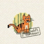 Mouseloft Mini Cross Stitch Kit - Tiger, At the Zoo Collection