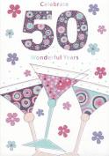 50th Birthday Card. Title- Celebrate 50 Wonderful Years