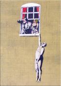 Banksy Art - Open Greeting Card - Hanging Man - BK044