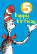 Dr Seuss - Badge Card - 5th Birthday