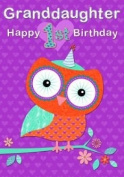 Happy 1st Birthday Granddaughter Greeting Card