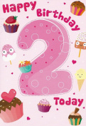 Happy Birthday 2 Today card