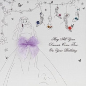 """"""" MAY ALL YOUR DREAMS COME TRUE ON YOUR BIRTHDAY """" HANDMADE OPEN BIRTHDAY CARD - BB41"""