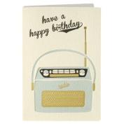 Retro Press Radio Birthday Card