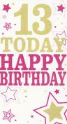 13 Today Happy Birthday card