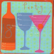 18th PARTY INVITATION CARDS - 6 SHEETS & ENVELOPES
