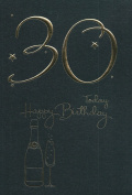30th Today Happy Birthday Card