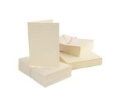 Anita's 50 x A6 High Quality Ivory Cream Card Blanks + Matching C6 Envelopes