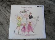 """Art Beat Greetings Card """"Congratulations"""" - Blank Card"""