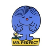 Mr Perfect Stand Up Greeting Card