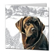 Labrador (Chocolate) Blank Greetings Card