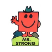 Mr Strong Stand Up Greeting Card