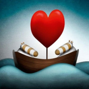 """Peter Smith - """"Loveboat"""" Greeting Card New in Cello"""