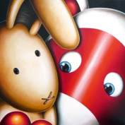"""Peter Smith - """"I Need Some Bunny To Love"""" Greeting Card New In Cello"""