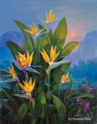 Botanical Art Greeting Card - Blank - Bird Of Paradise 1