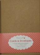 25cm x 13cm x18cm Recycled Kraft Card Blanks + Envelopes Natural Brown Buff