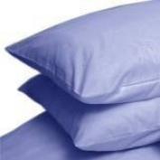 Pair Of Percale Combed Cotton Pillow Cases Light Blue