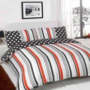 Sugar Stripe Duvet Set Size