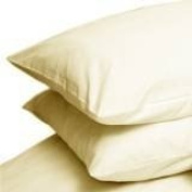 Pair Of Percale Combed Cotton Pillow Cases Cream