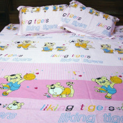 100 Percent Cotton Soft Printed Flat Bedsheet With 2 Pillow Cases