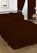 Double Valance sheet Brown Colour 18 Colours Available Plain Colour Valance Sheet