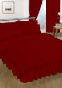 Single Valance sheet Red Colour 18 Colours Available Plain Colour Valance Sheet