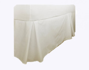 Charlotte Thomas, Percale Plain Dye Fitted Valance, Ivory, Double Size